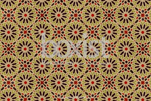 Seamless Geometric Arabesque Ceramic Tiles Background