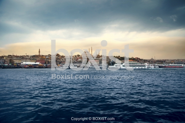 Eminonu From The Bosphorus Of Istanbul