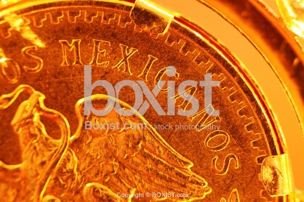 Eagle On Mexican Gold Coin