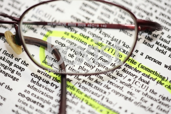 Reading Glasses on Copyright Meaning in Dictionary