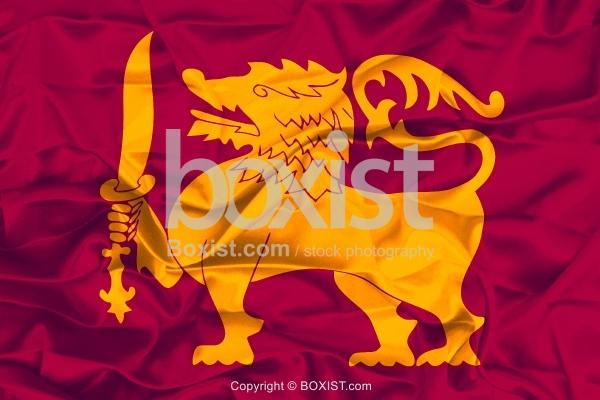 Sri Lanka Lion And Sword Flag