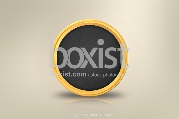 Concept Design of Black and Gold Coin