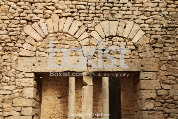 Roman Arched Gates at Dougga in North Africa
