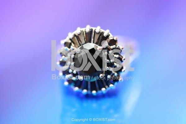 Black Gemstone Ring