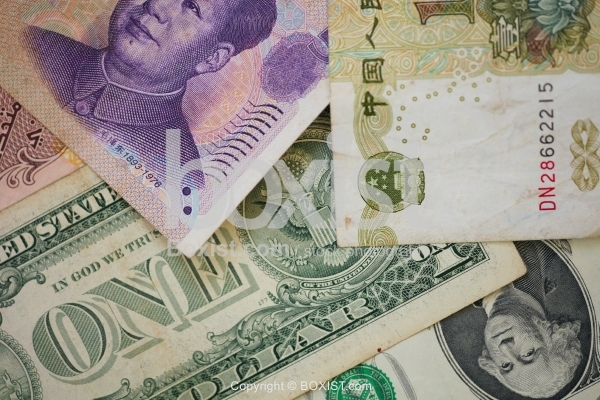 American and Chinese Money Notes