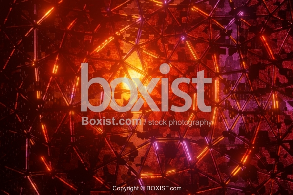 Geometric Abstract Lights Background