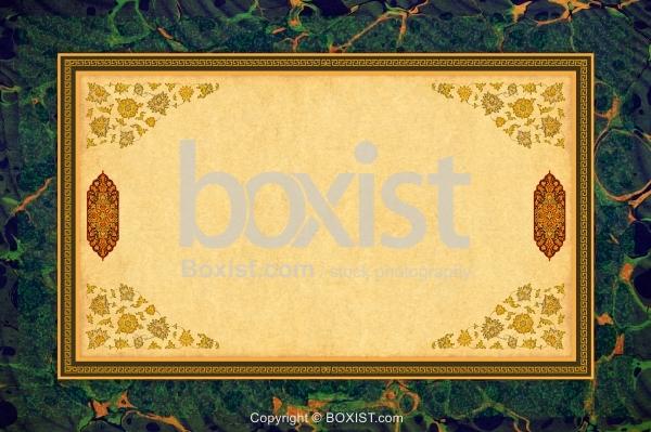 Decorative Marbled Paper Framed Background