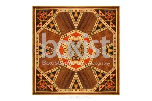 Piece Of Arabesque Patterns Art On Wood