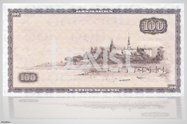 One Hundred Danish Krone 1970 Series Back