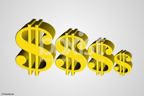 3D Dollar Signs