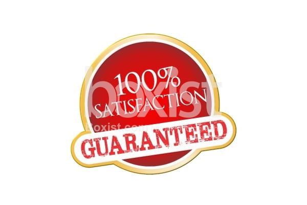 100 Percent Satisfaction Guarantee Stamp