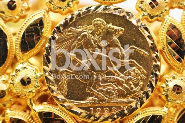 1928 Gold Souvenir English Coin