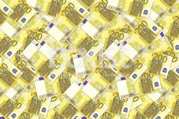 200 Euros Money Background