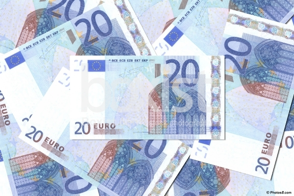 20 Euro Money Background