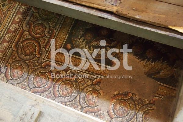 4th Century Mosaic Floor at the Nativity Basilica in Bethlehem