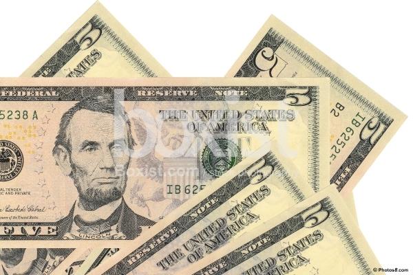 5 Dollars Bills