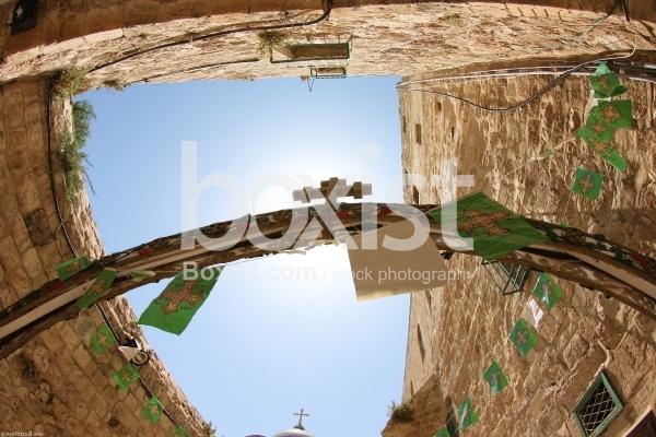 Alley in the Christian Quarter of Jerusalem
