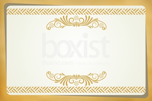 Blank Ornament Invitation Card