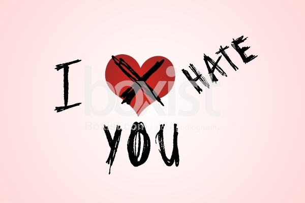 I Hate You with Love Heart
