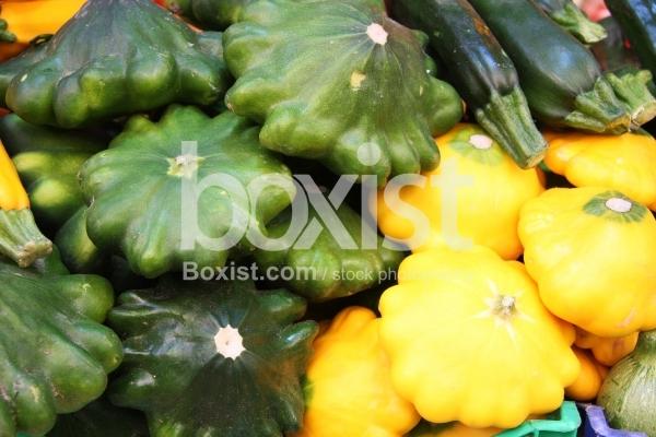 Yellow and Green Squash Zucchinis