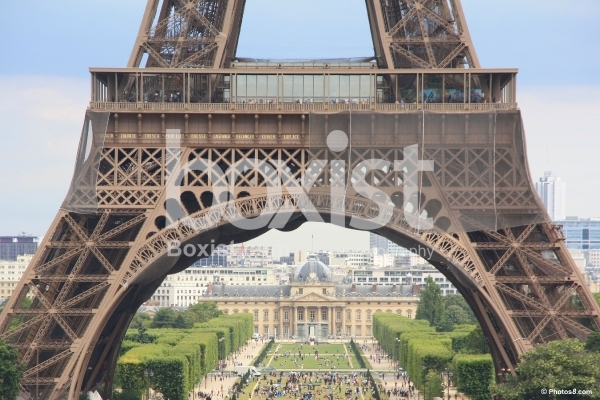 Base of Eiffel Tower in Paris