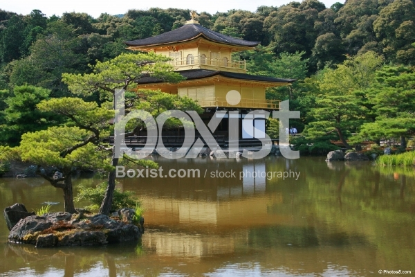 Golden Pavilion Temple in Kinkaku