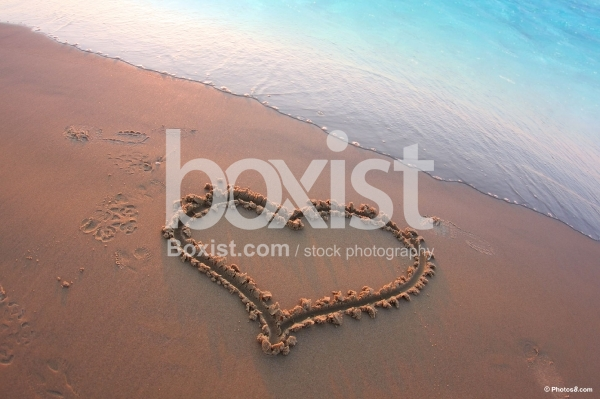 Love Heart on Beach Sand