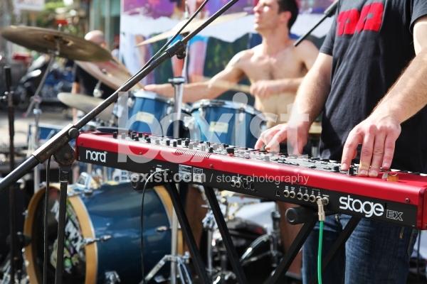 Music Band Playing