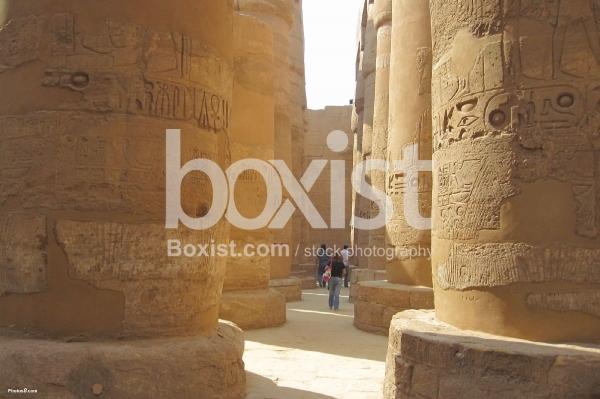 Walking Between Pharaohs Columns