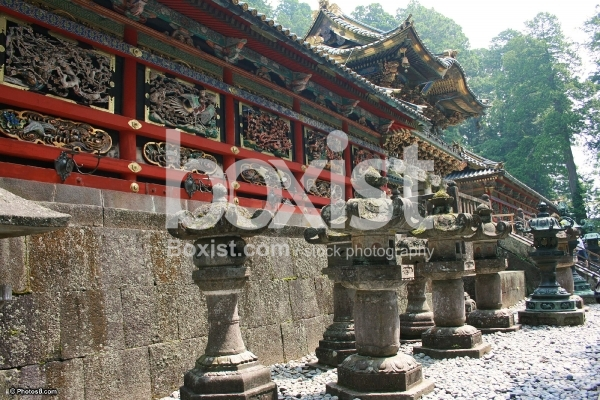 Wall Part of Temple at Nikko Japan