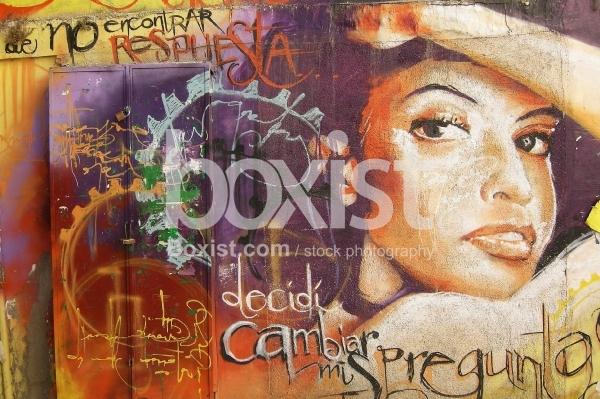 Wall of Graffiti Art