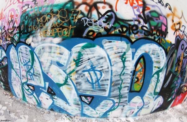 Wall of Graffiti Signs