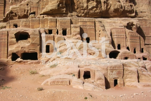 Wall of Nabatean Tombs in Petra