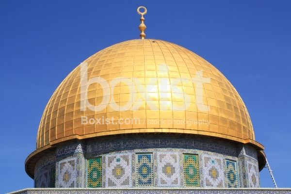 View Over the Golden Dome of the Rock