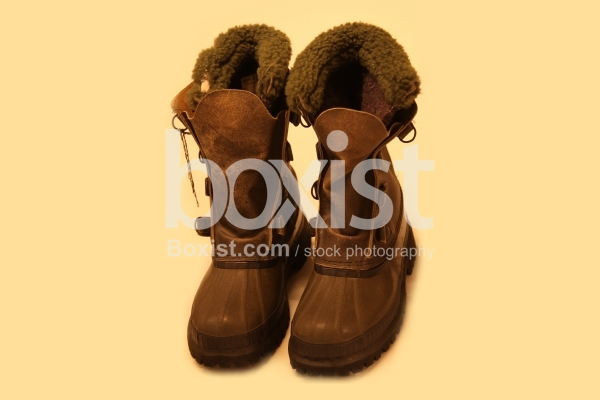 Vintage Army Fur Lined Cold Weather Boots