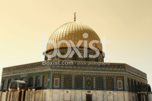 Vintage of Dome Of the Rock Mosque