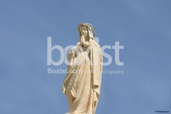 Virgin Mary Statue Over Bethlehem Church