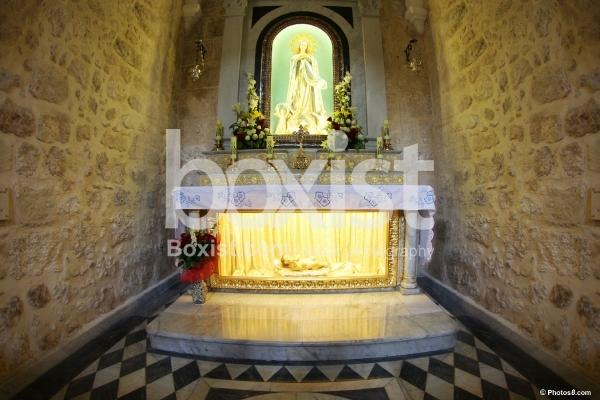 Virgin Mary and Baby Jesus in Bethlehem Church