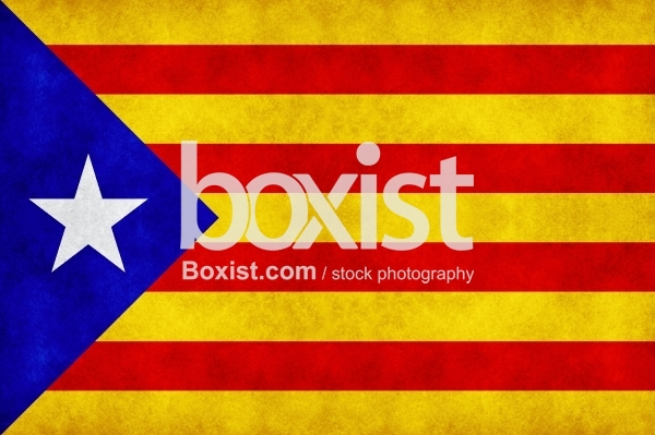 Catalonia Independence Flag on Grunge and Rough Texture