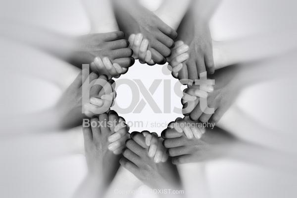 Hands Hold Together